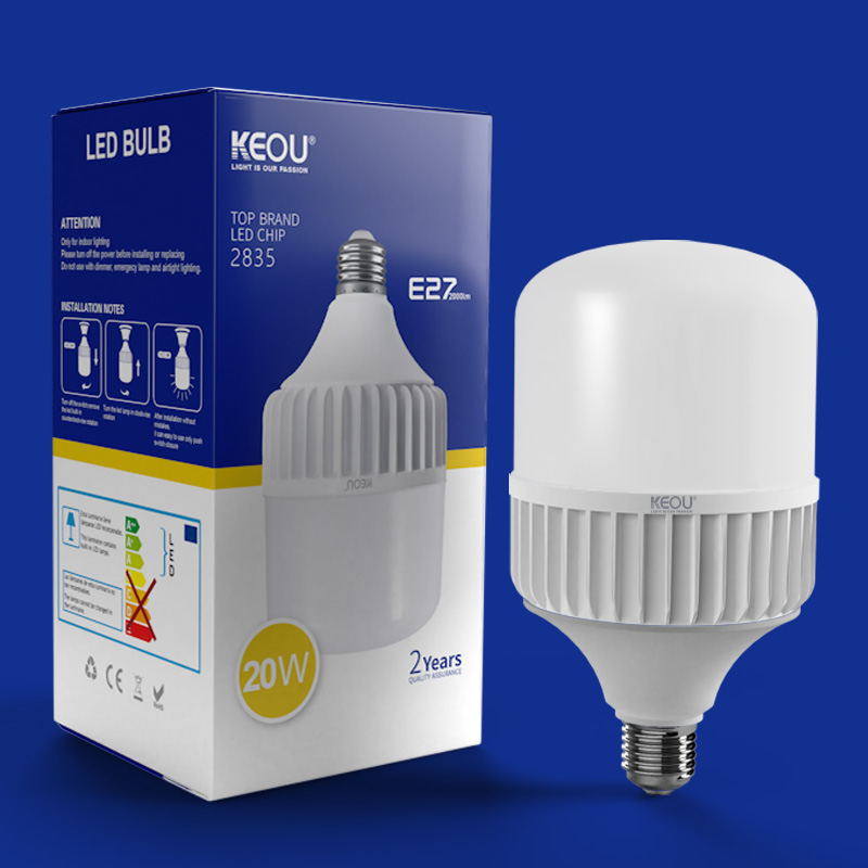 KEOU Aluminum LED Bulb Light Factory- 18W 28W 38W 48W