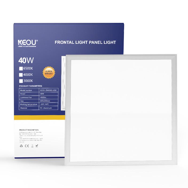 LED flat panel light New indoor Optical Lens led chip ultra-thin 40W 600x600mm 60*60 square flat led panel ceiling lighting