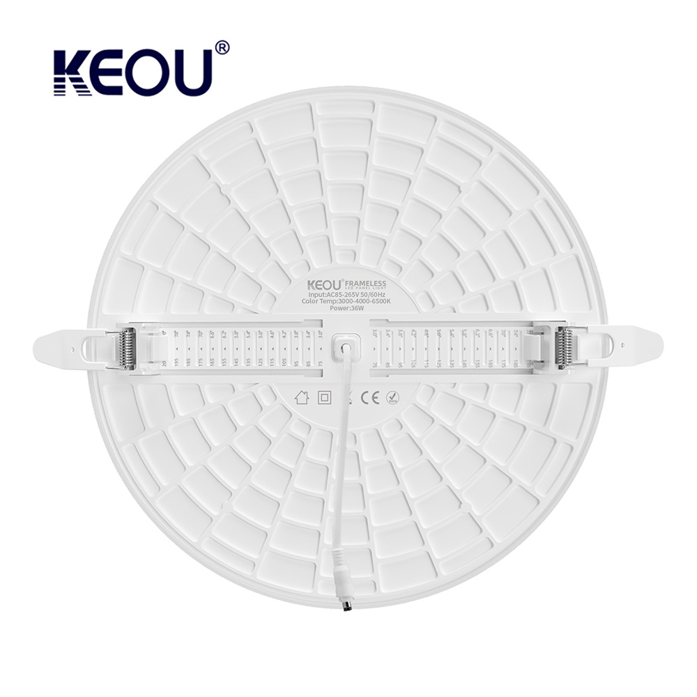 Dimmable LED Panel Light Factory 36W China Round Surface Mounted Frameless LED Panel with CB TUV CE RoHS