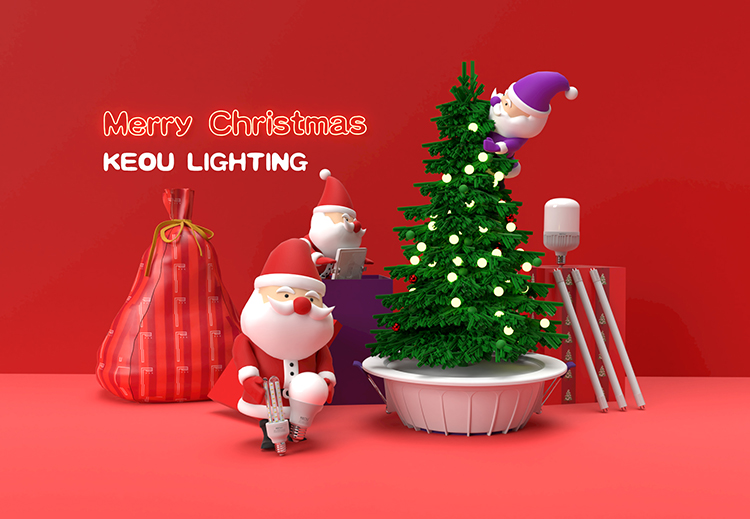 KEOU Indoor LED Lighting Factory & Merry Christmas
