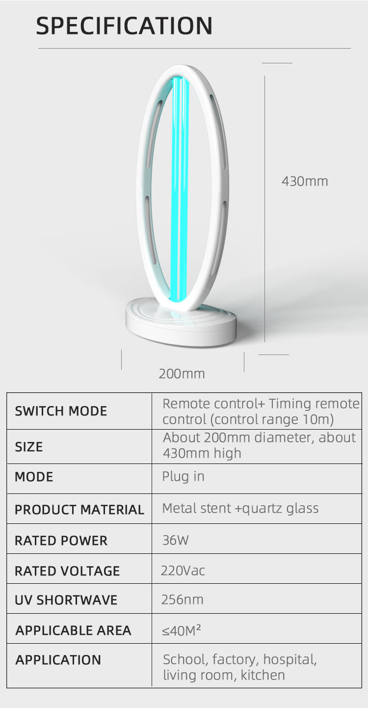 ultraviolet sterilizer light