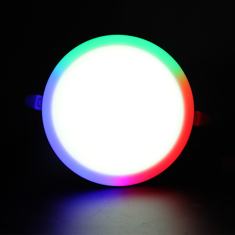 Adjustable led panel factory round smart dimmable 70-205mm RGB frameless led light