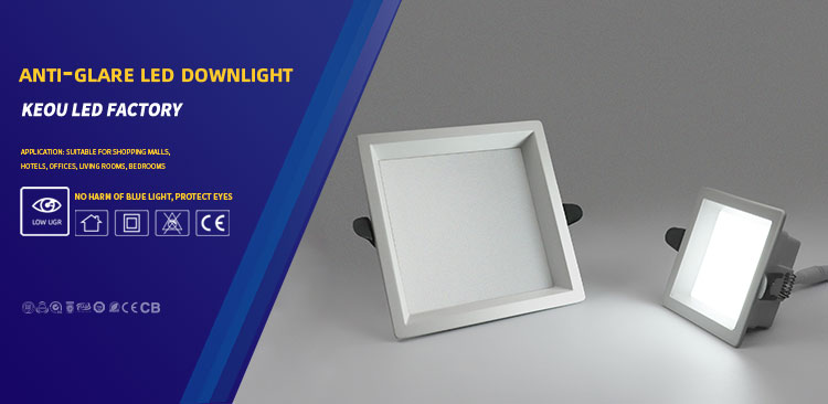Square recessed downlight