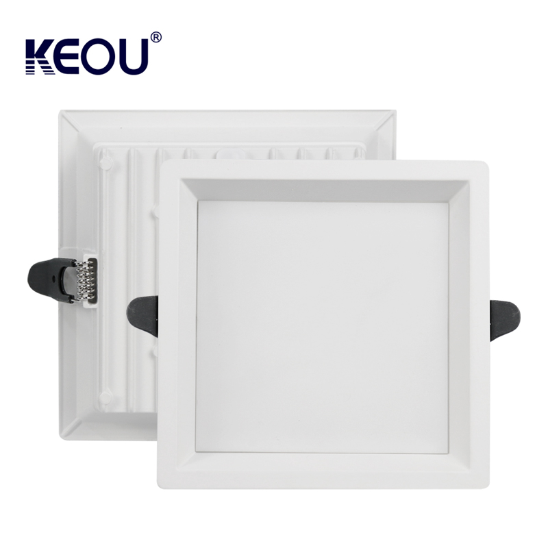 Square recessed downlight 9W 18W 24W 36W Down Light PC aluminum LED downlight light