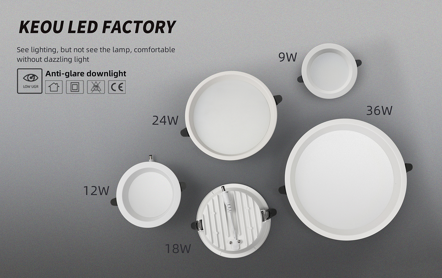 Downlight LED Factory- KEOU New LED Downlights
