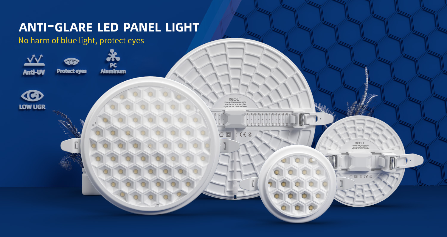Anti-glare led panel light factory
