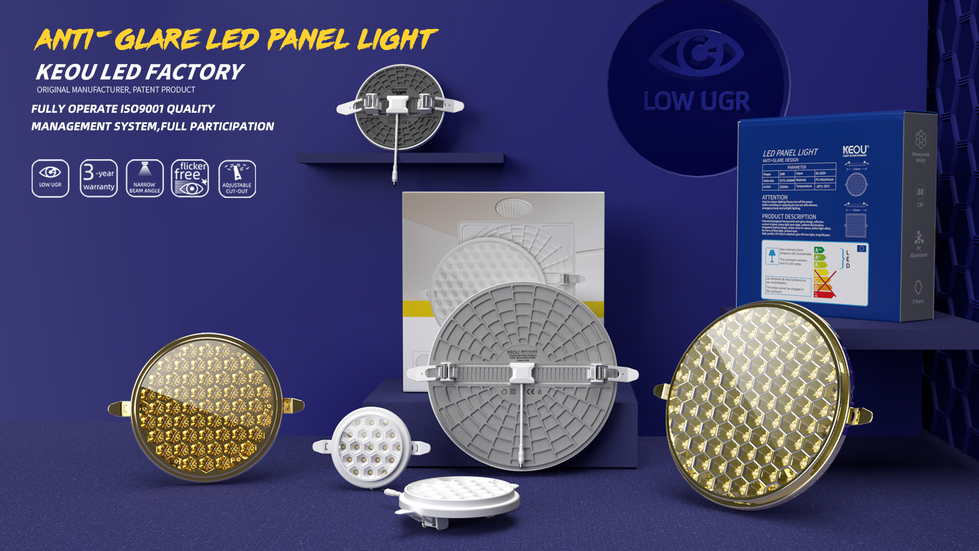 Anti Glare LED Panel Factory- KEOU New Arrival