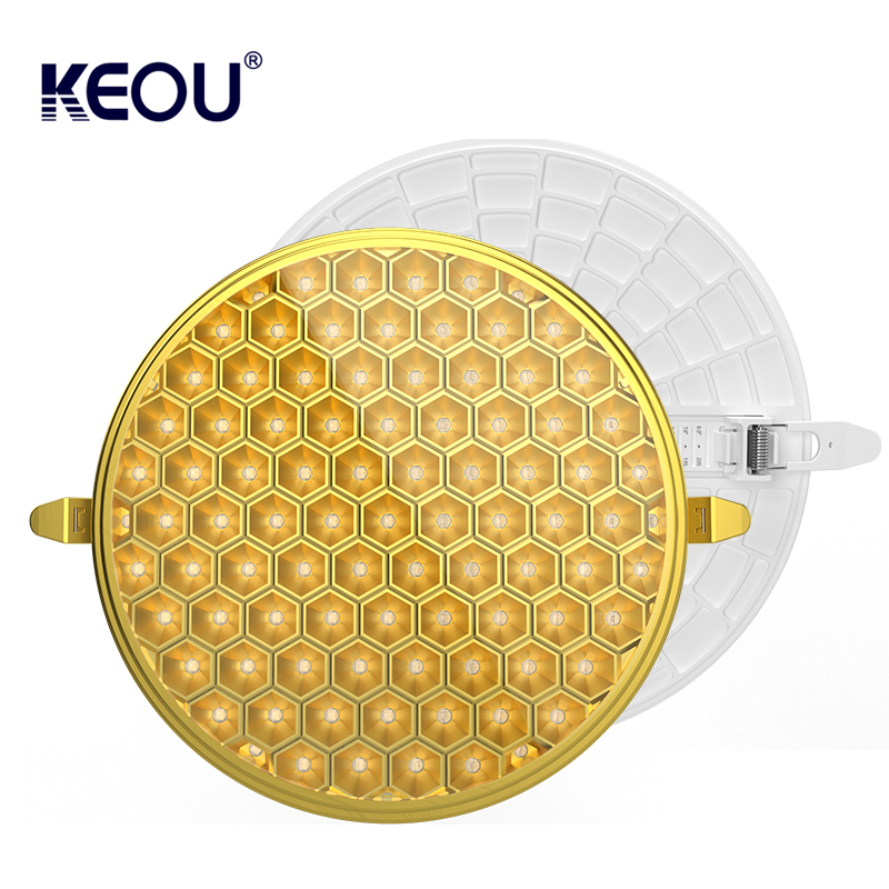 Anti Glare LED Panel Light 9W 18W 24W 36W Dimmable Smart LED Lamp support Multi color Housing