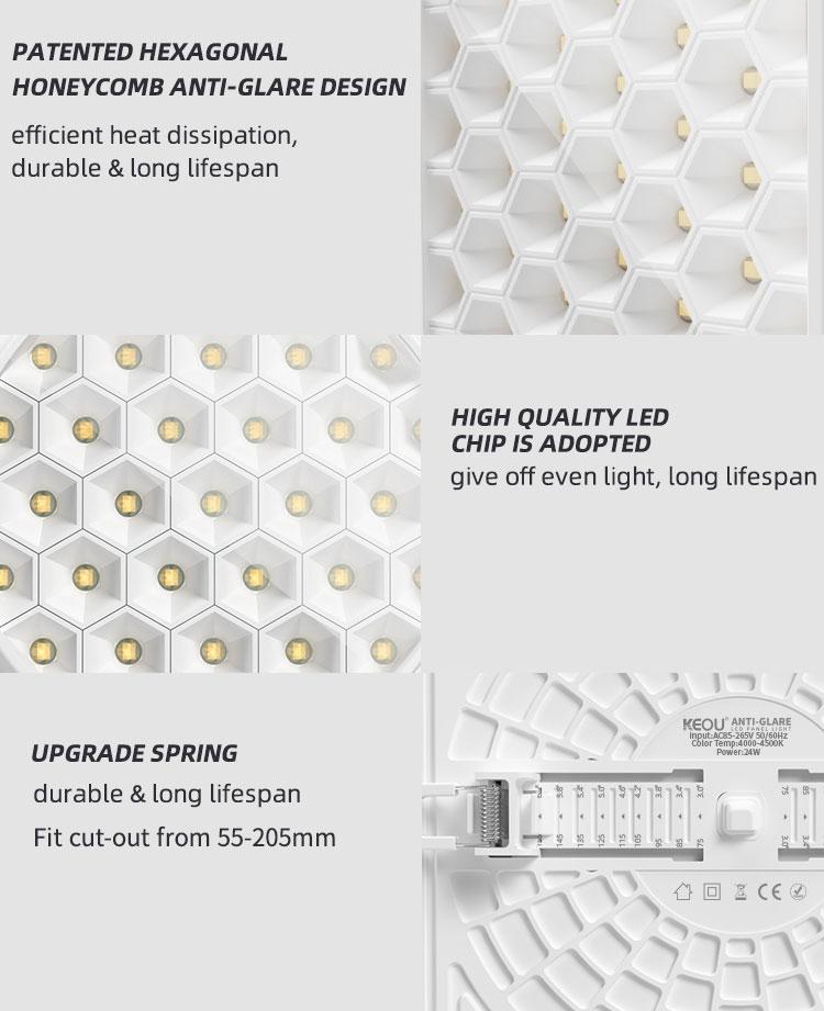 Adjustable LED Panel Light Square