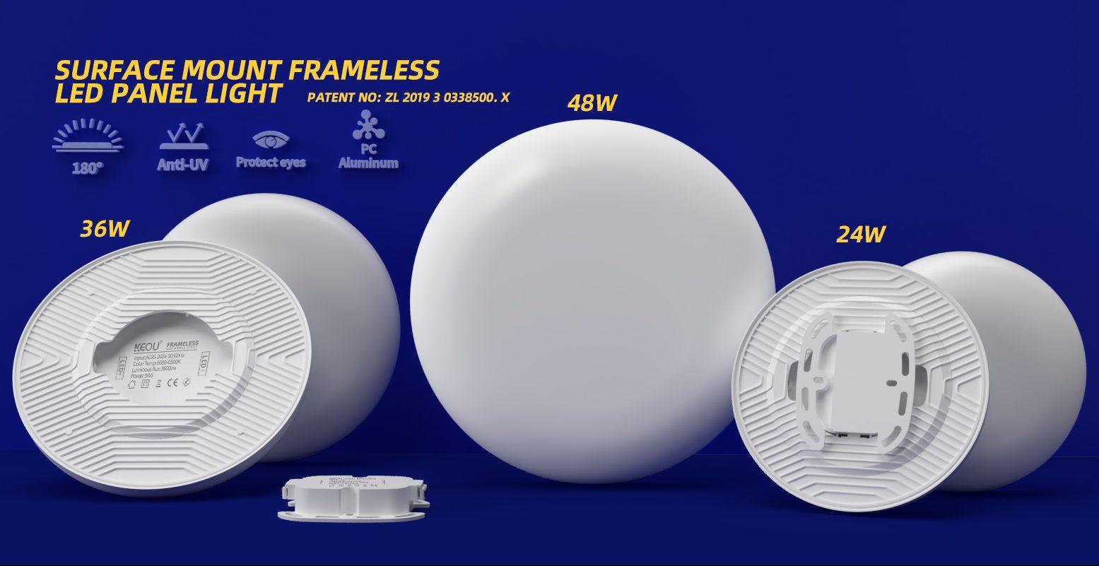 Surface Frameless LED Panel-KEOU Patent Product