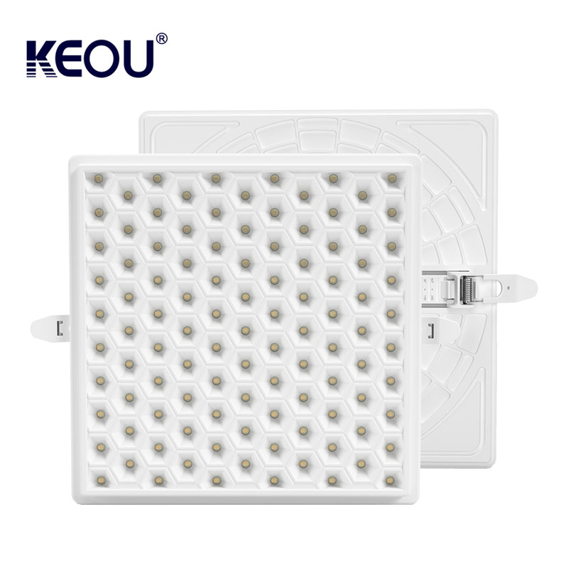 Dimmable Square LED panel Light KEOU New Anti glare LED Lamp 18W 24W 36W