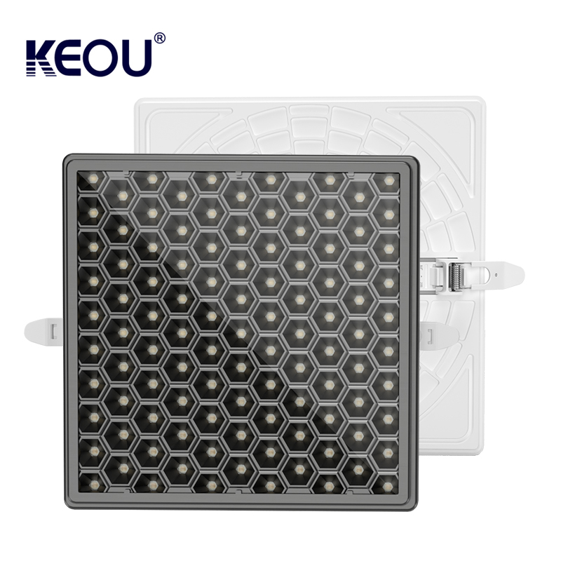 Square Dimmable LED panel Light multi color housing 9W 18W 24W 36W Anti glare LED Panel