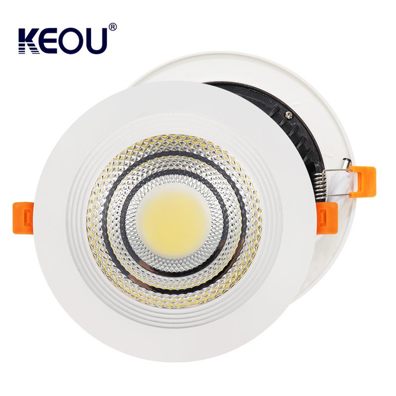 COB LED Downlight 5W 7W 12W 18W 25W 30W New Recessed LED Down Light Lamp Supplier