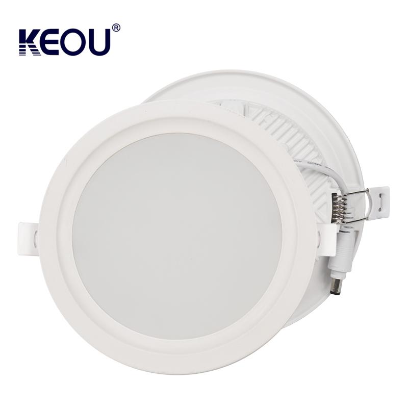 Round LED Downlight 18W 9W 12W 24W 36W KEOU New Recessed Down Light Lamp Factory