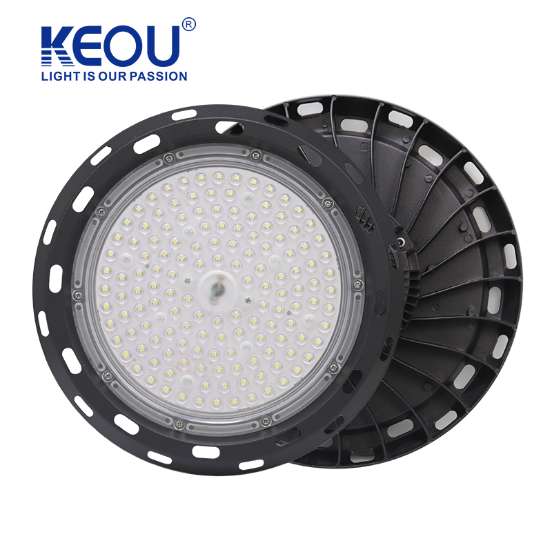 100W UFO led high bay light KEOU new smart IP66 150W 200W high bay lights factory