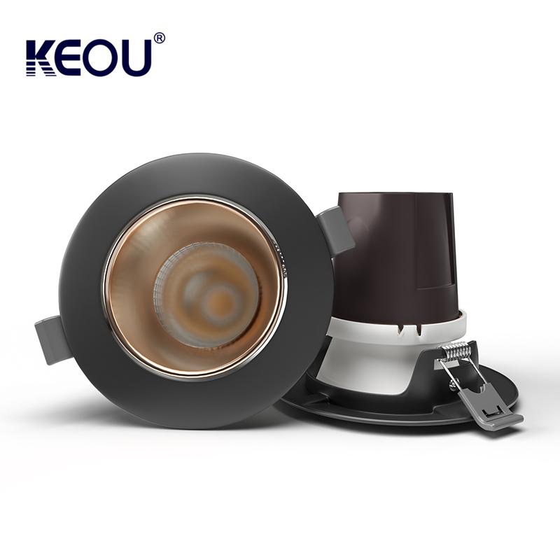 LED Spot Light 7W KEOU New COB spotlights Lamp Factory Support Electroplating Aluminum Plastic Hosing